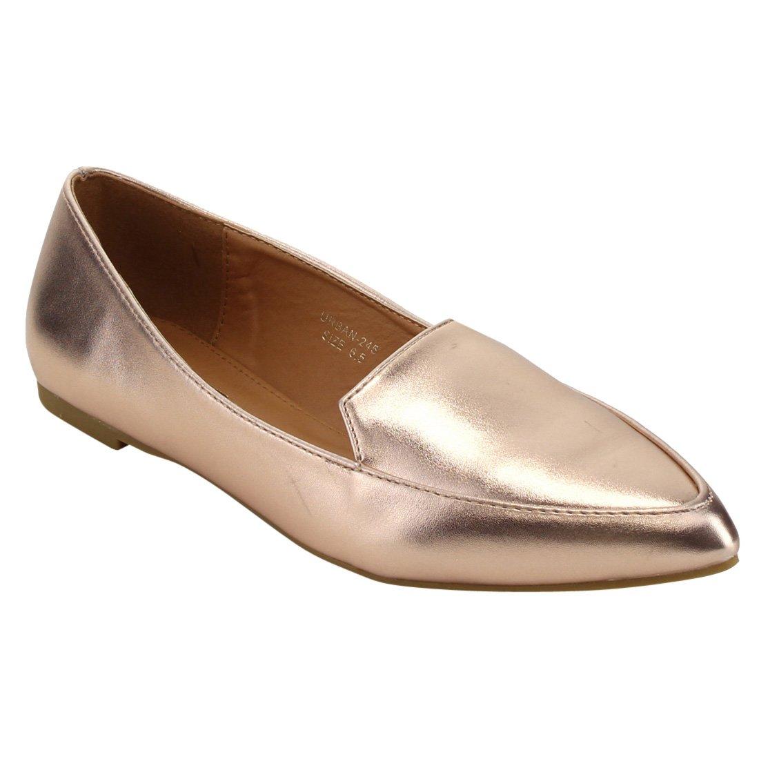 Yoki Women's Urban-245 Ballet Flat B071LKYSVQ 9 B(M) US|Rose Gold