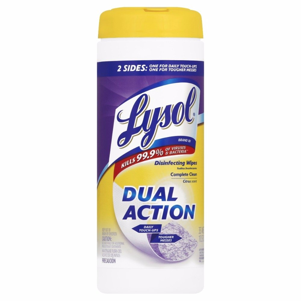 Amazon.com: Lysol Dual Action Disinfecting Wipes, Citrus, 35 Count (Pack of 9): Kitchen & Dining