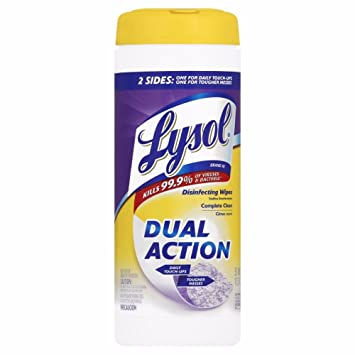 Lysol Dual Action Disinfecting Wipes w  Scrubbing Texture, 105ct (3X35ct)