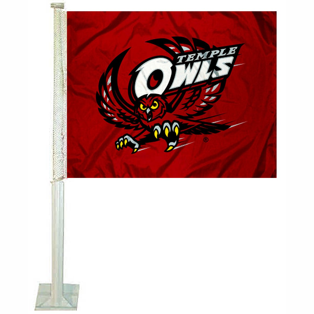 College Flags and Banners Co. Temple Owls Car Flag