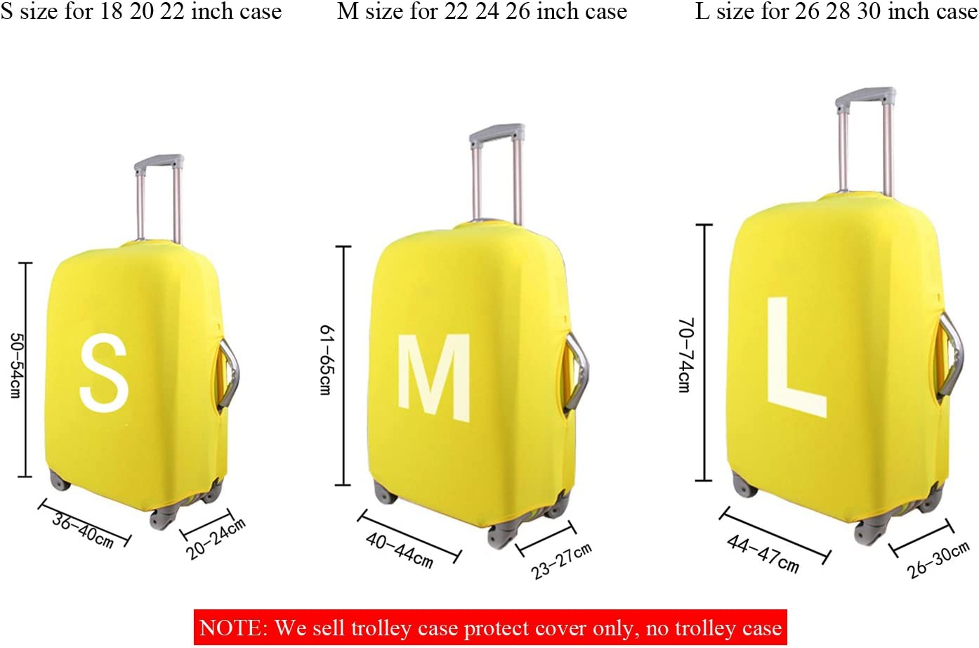 Travel Rolling Luggage Cover Painting Printed Protector Fits 18-32 Inch Suitcase