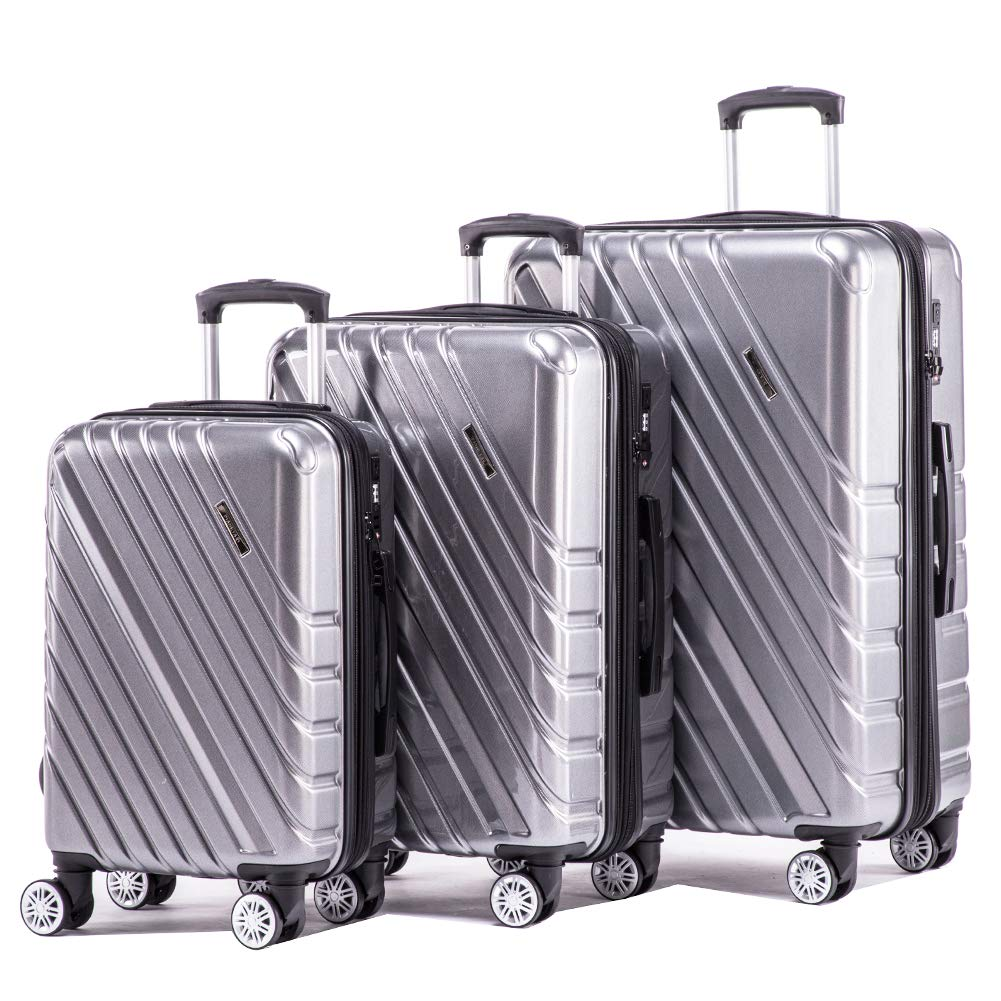 CDM product Expandable Luggage Sets Hardshell Spinner Suitcase 3pieces Lightweight Luggage with Build-in TSA lock 20inch carry on 24inch 28inch big image