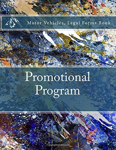 Promotional Program: Motor Vehicles, Legal Forms Book pdf epub