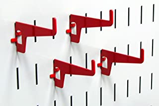 product image for Wall Control Pegboard 2-7/8in Long Reach Slotted Hook Pack - Slotted Metal Pegboard Hooks for Wall Control Pegboard and Slotted Tool Board – Red