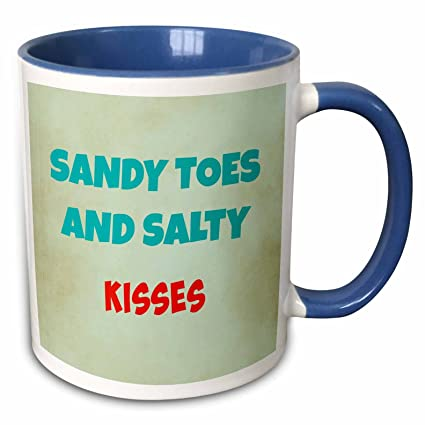 Amazon.com: 3dRose RinaPiro - Funny Quotes - Sandy toes and ...