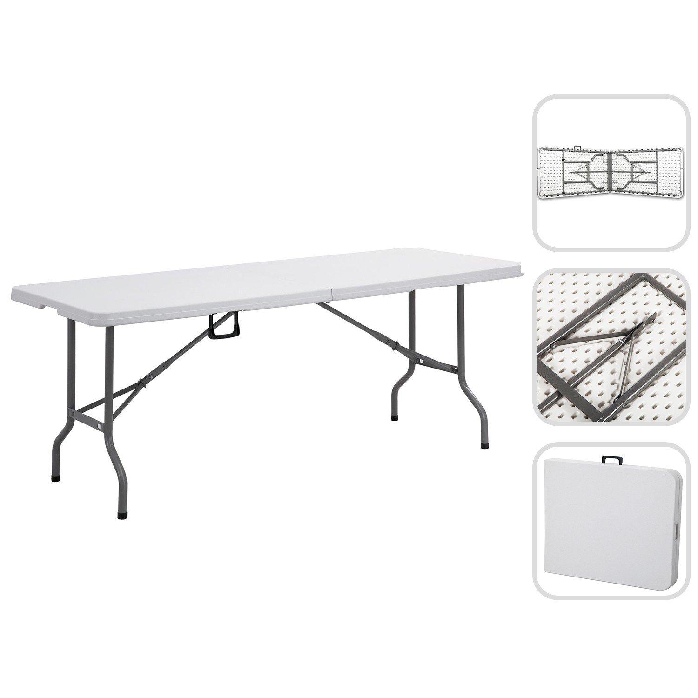 Grande Table pliante 240 cm - Table buffet jardin avec poignÉe