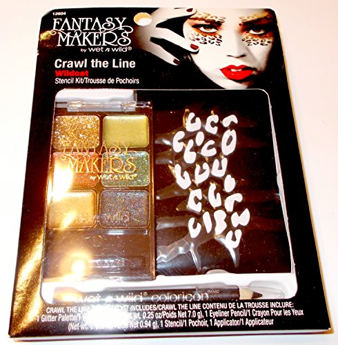 Wildcat Stencil Kit Fantasy Makers Crawl the Line Makeup Halloween Accessory NIP (Halloween Makeup For A Cat)