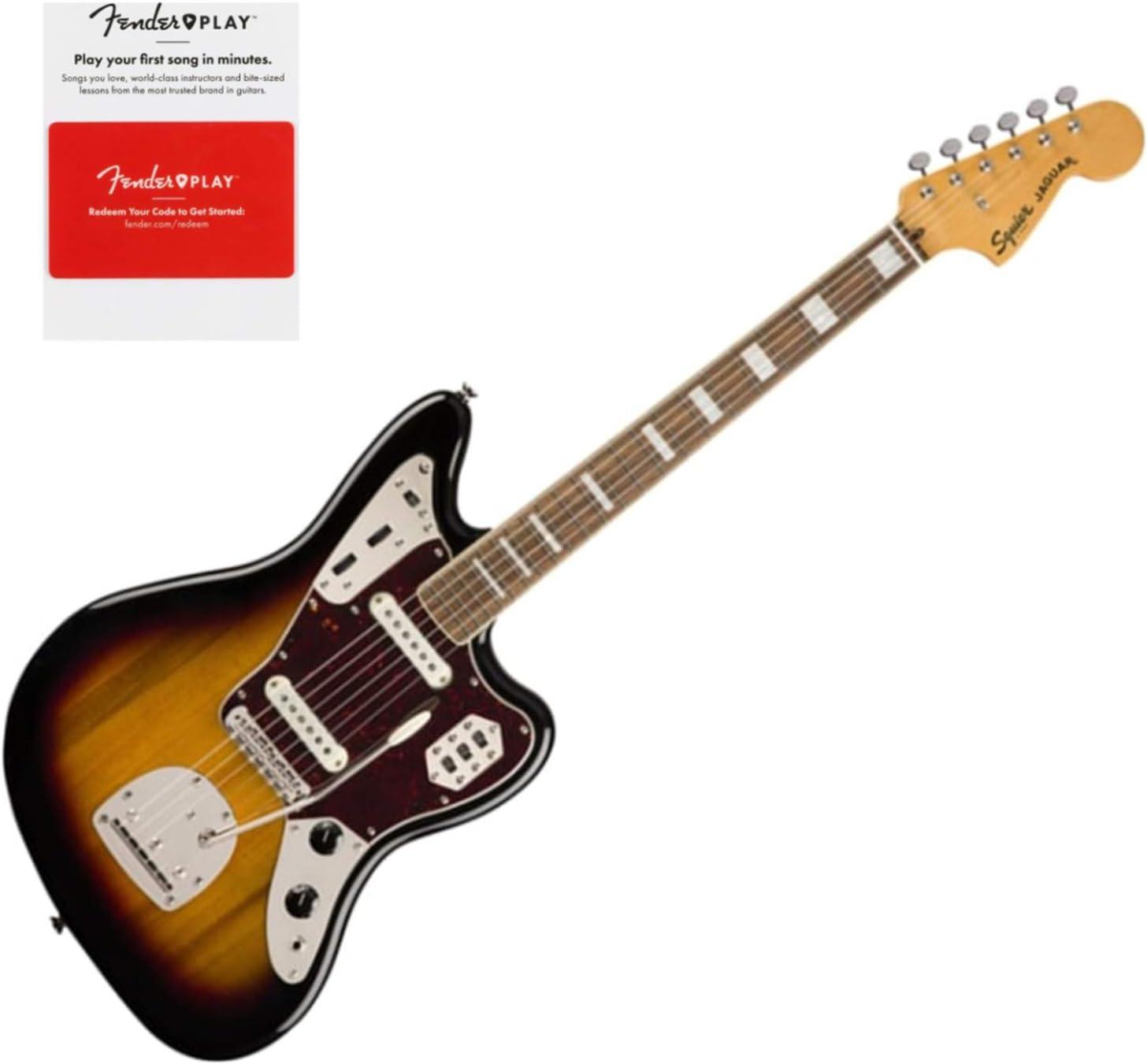 Squier 0374090500 Classic Vibe 70s Jaguar, Laurel Fingerboard, 3-Color Sunburst