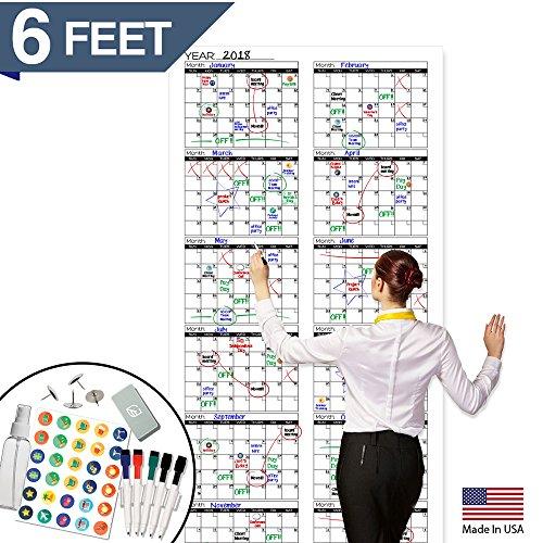 Large Dry Erase Wall Calendar - 72