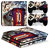 FriendlyTomato PS4 Pro Skin and DualShock 4 Skin - Soccer 10 - PlayStation 4 Pro Vinyl Sticker for Console and Controller Skin