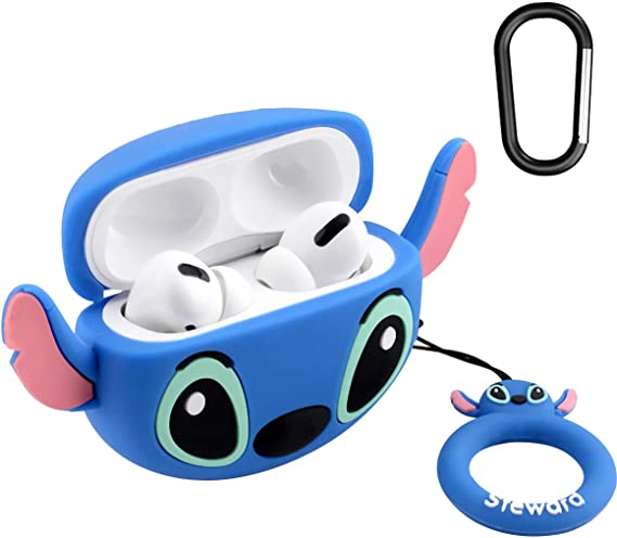2019 Release Cheese Silicone Cute AirPods Pro Charging Case Compatible with AirPods Pro LKDEPO Cartoon Airpods Pro Case with Keychain
