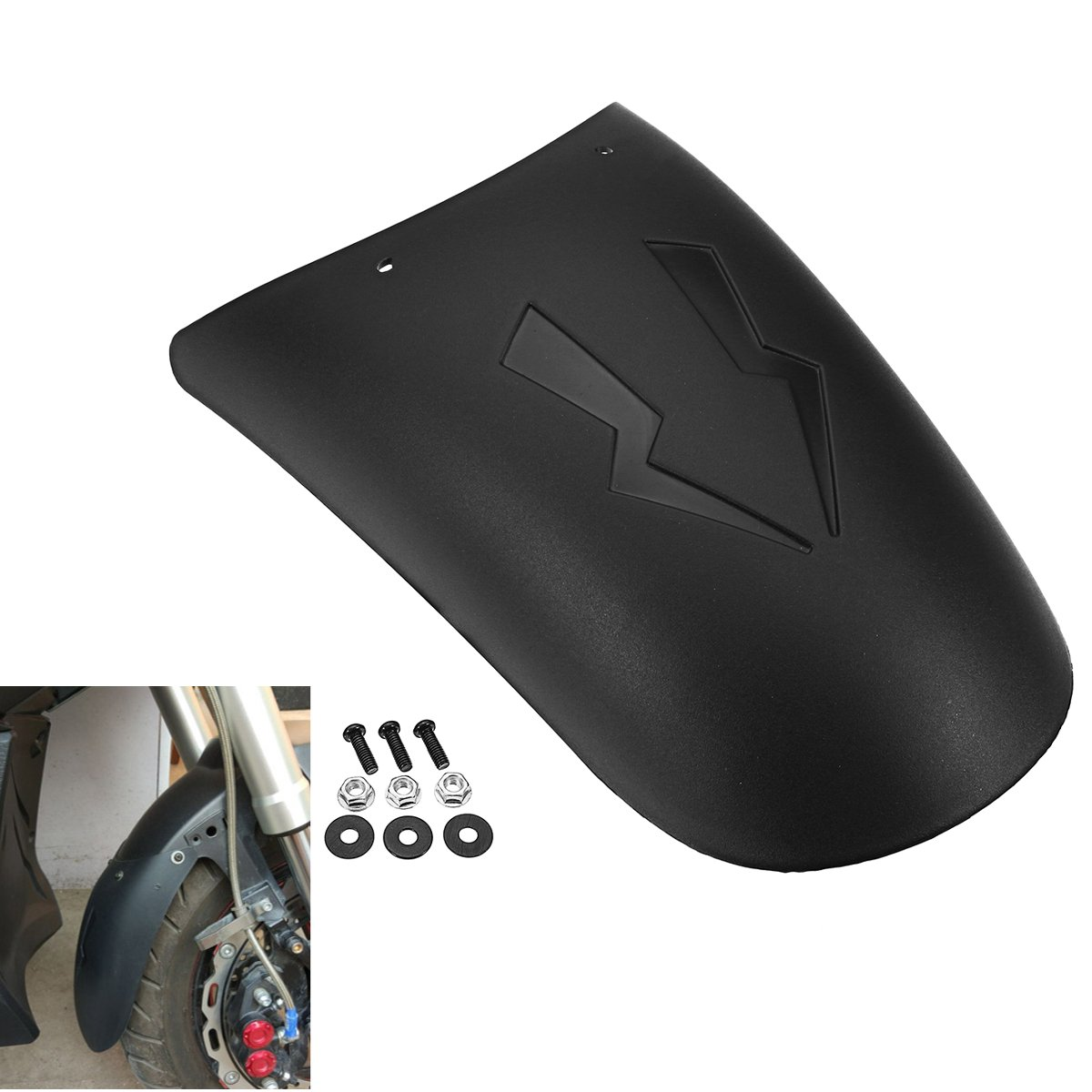 Lovinn Motorcycl Front Rear Wheel Cover For Fender Extension Extender For HONDA/Yamaha/Kawasai/BMW/Benelli