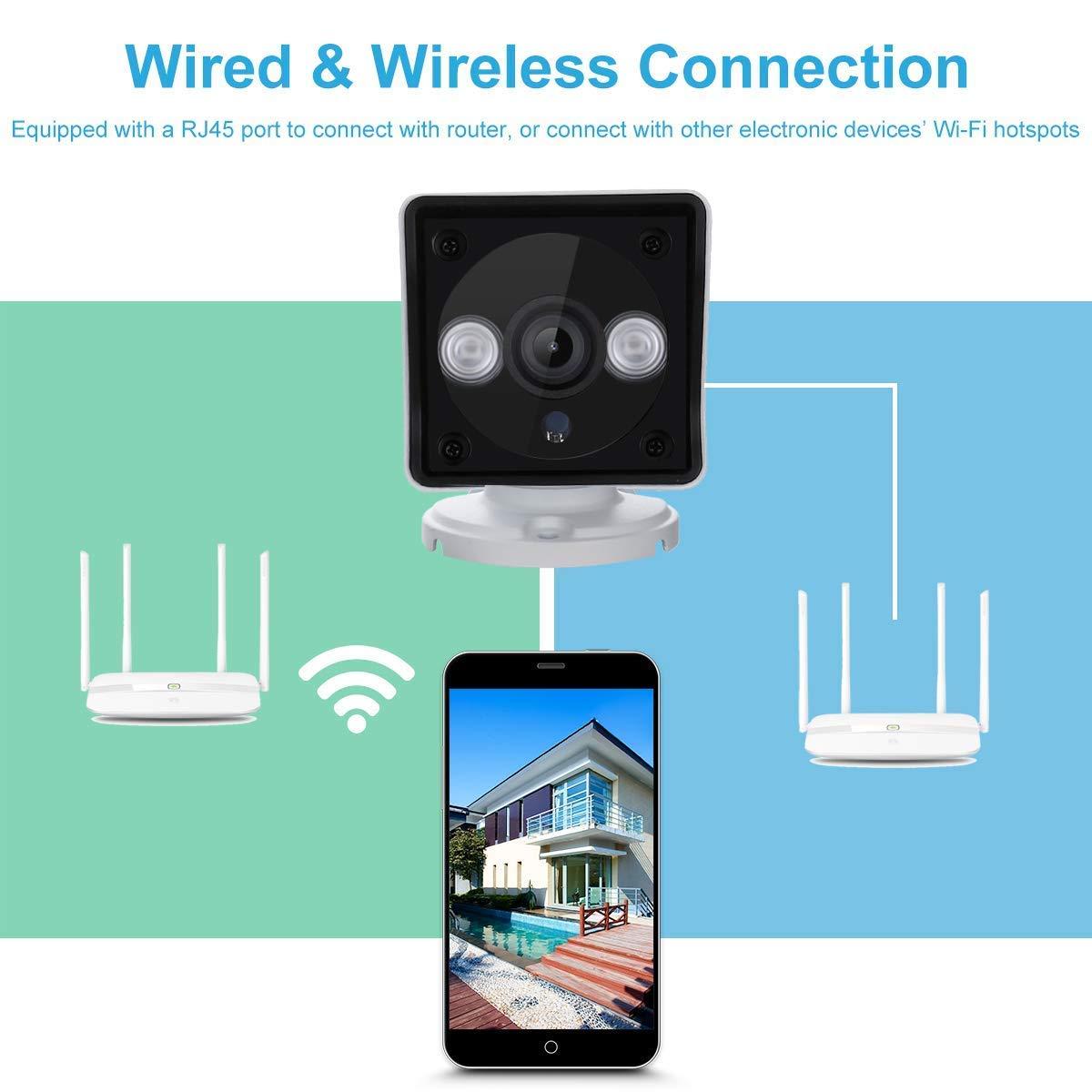 Sricam Caméra IP HD 1080p sans Fil Etanche Vision Nocturne Caméra de sécurité WiFi ONVIF IR-Cut Support Détection du Mouvement Alarme Mail/Téléphone Accès à Distance PC Phone P2P Blanche