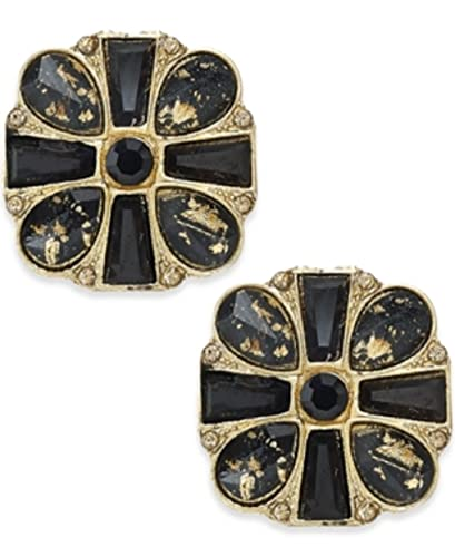 Amazon Com Thalia Sodi Gold Tone Jet Speckled Stud Earrings Only