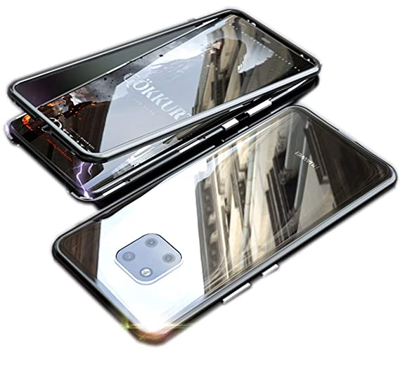 low priced fbfa3 7324d HIKERCLUB Huawei Mate 20 Pro Case Magnetic Adsorption 9H Tempered Glass  Back + Metal Frame with Built-in Multiple Magnet Ultra Clear Slim  Protective ...