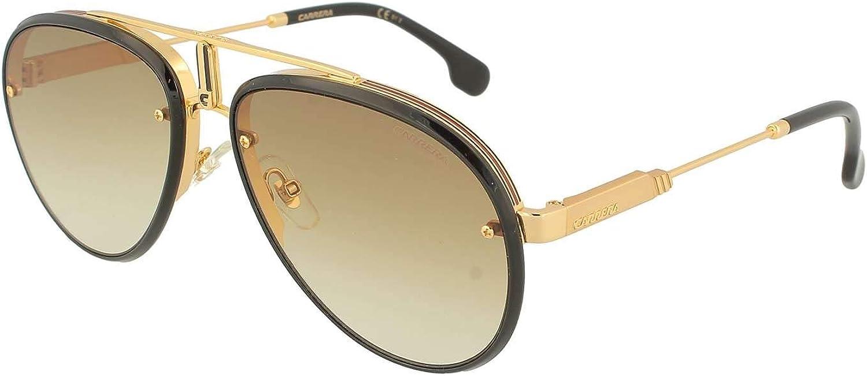 CA1026S 02M2 SP Carrera Polarized Men/'s Black//Gold-Tone Aviator Sunglasses