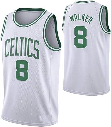 NUJO Camiseta de la NBA Boston Celtics Kemba Walker # 8 ...