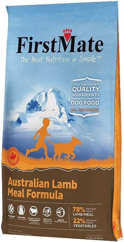 5. FirstMate Australian Lamb Meal Formula Limited Ingredient Diet Grain-Free