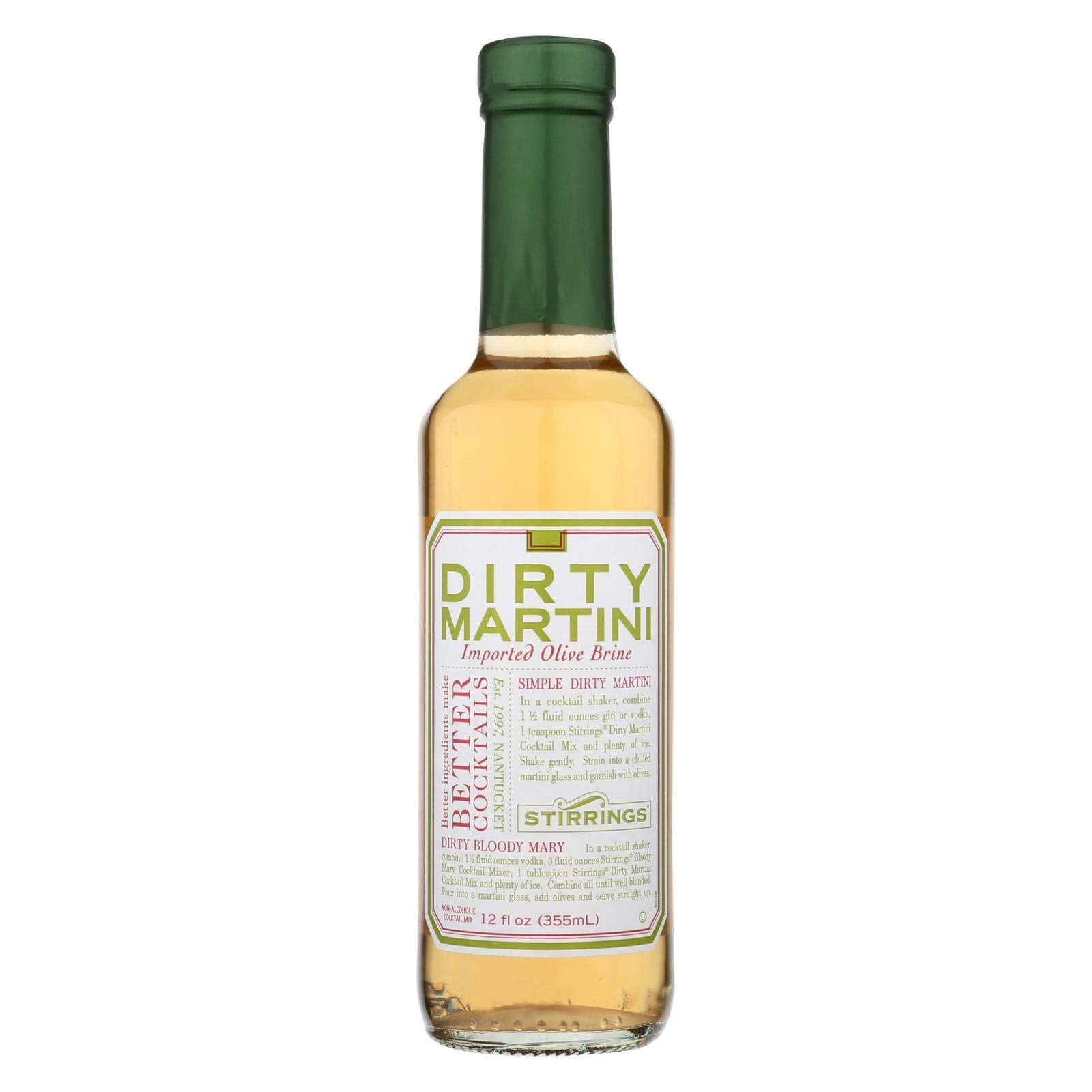 Stirrings Dirty Martini Cocktail Mixer, 12 Ounce -- 6 per case. by Stirrings