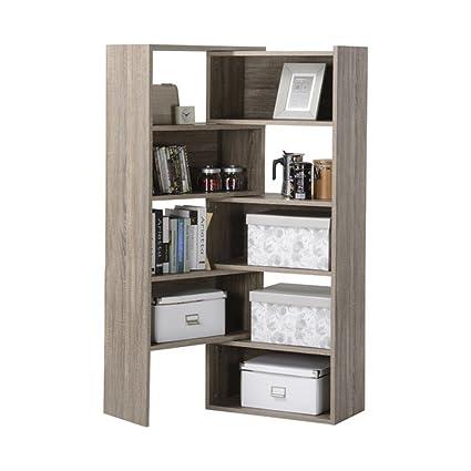 Shelving Console 58.71u0026quot; Corner Unit, Corner Storage Cabinet (Reclaimed  ...
