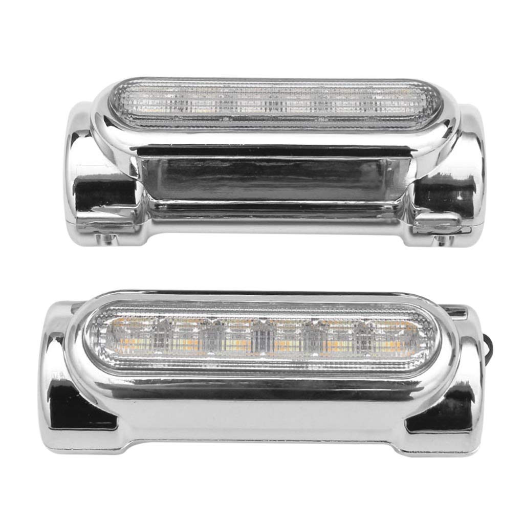 Silver B Blesiya 2x Metal Motorbike Highway Bar Lights Switchback for Crash Bars for Harley Victory