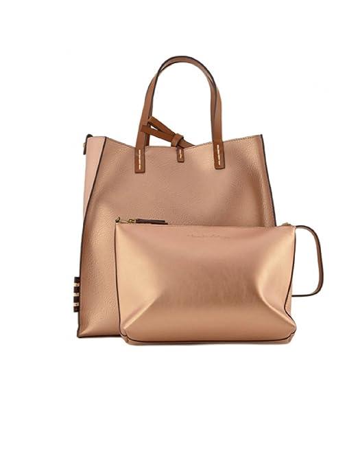 86e454bdce MANILA GRACE Borsa Felicia Bag Medium w01301 md591 Cipria Metal Metallic  Reverse ss18: Amazon.it: Abbigliamento