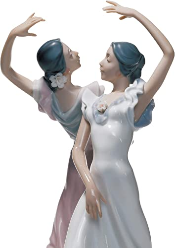 LLADR Ole Flamenco Couple Figurine. Porcelain Flamenco Figure.