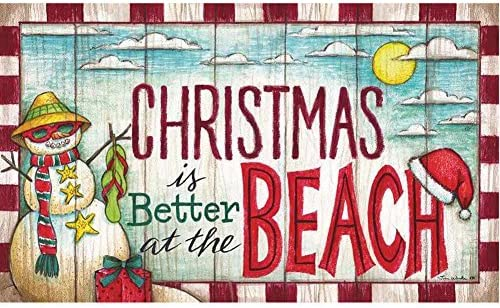Custom D cor Christmas at the Beach Doormat