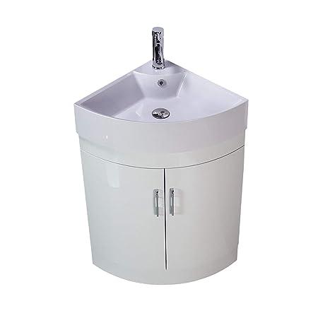 Klara Vanity Unit Cabinet Basin Sink Bathroom Corner Floor Standing