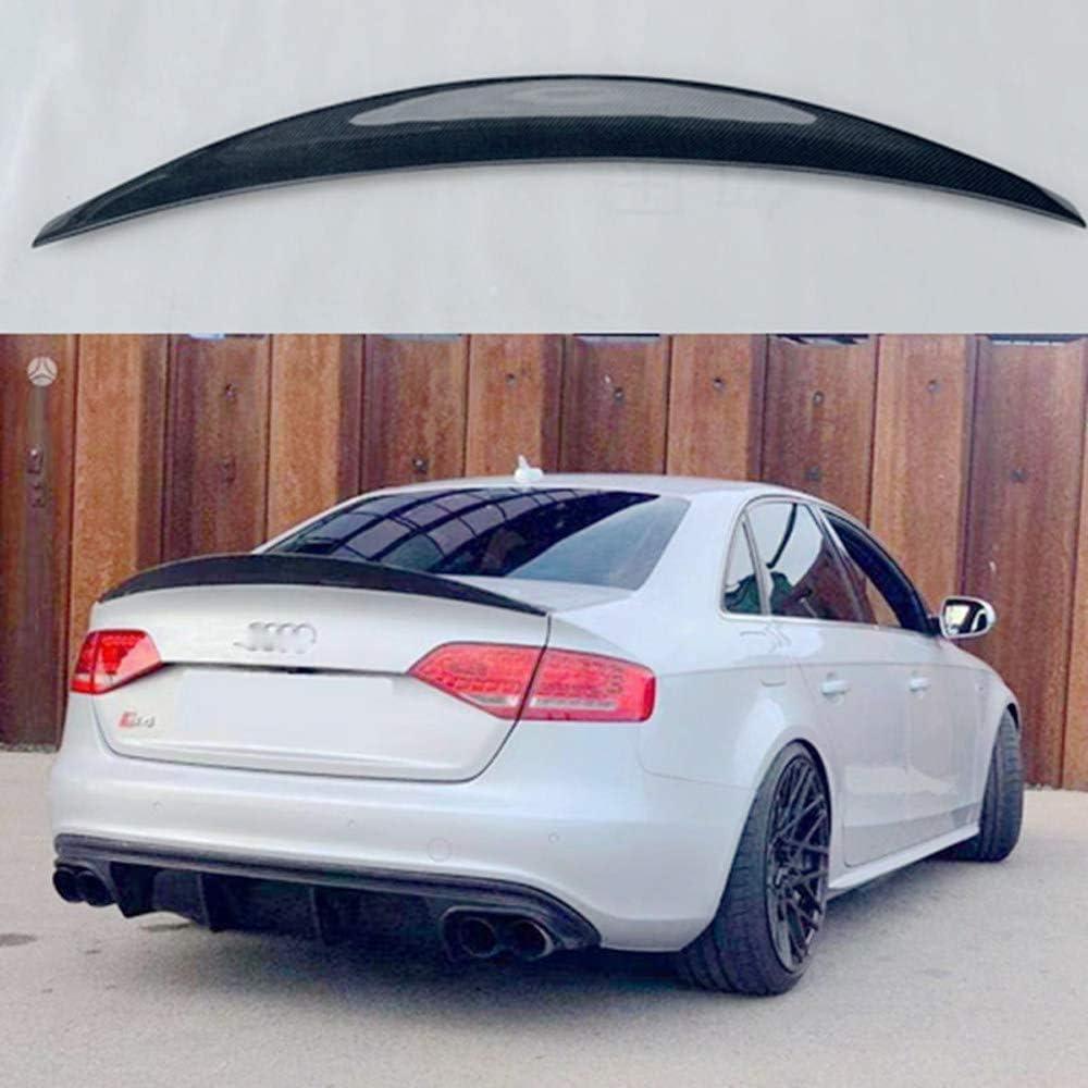 ZQTG carbon fiber rear spoiler wing trunk lip trunk cover car styling for Audi A4 S4 B8 B8.5 4 door sedan 2009 2012 2016 A4,2012 A4-2013-2016