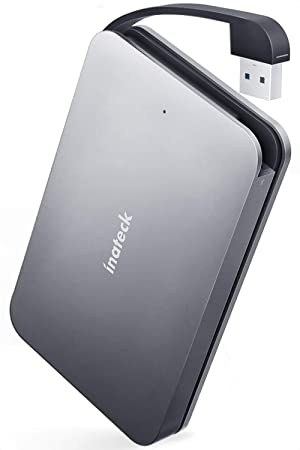 Inateck Carcasa Disco Duro de USB 3.0 a SATA en Aluminio con Cable USB Integrado, Caja Externa para 2.5