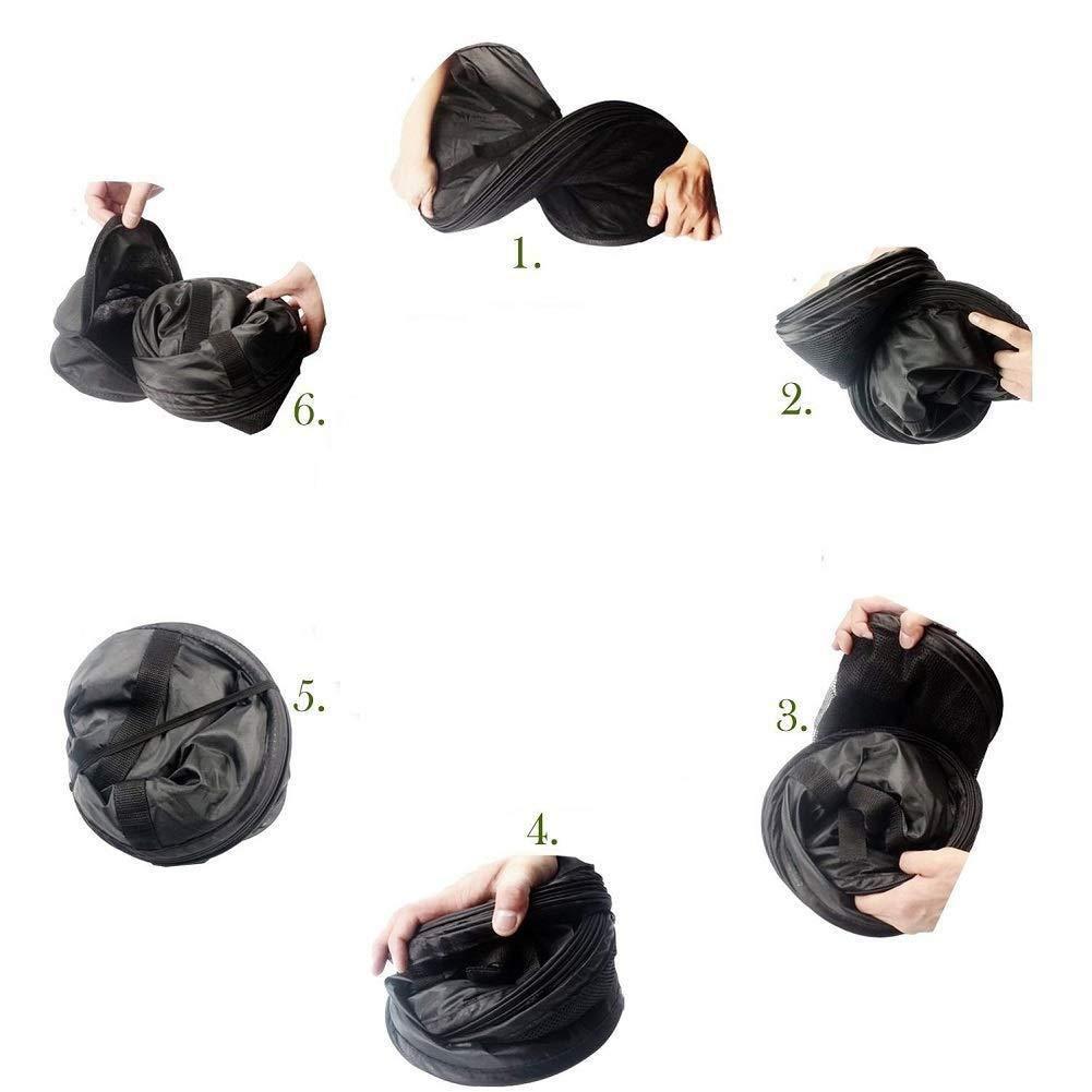 Depory 4/Capa de Malla para Colgar Red de Secado Rack seco Hierbas arom/áticas con Cremalleras Negro Regalo para S Colgar Hebilla y Bolsa de Almacenamiento