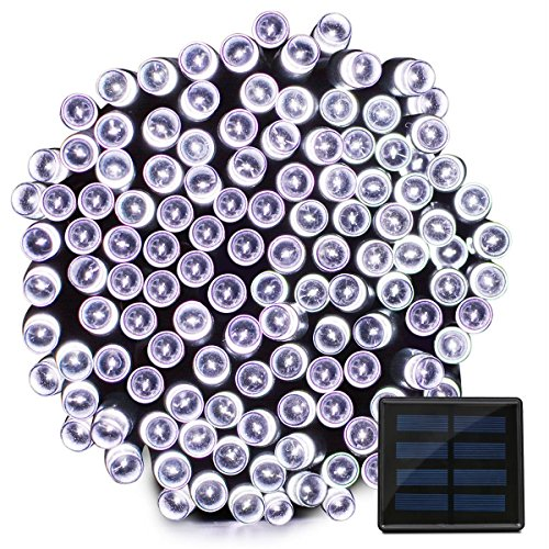 Vmanoo Solar Christmas Lights, 72 Feet 22 Meter 200 LED Solar Powered Fairy String Lights for Outdoor, Gardens, Homes, Wedding, Party, Lawn, Tree, Xmas Waterproof (White)
