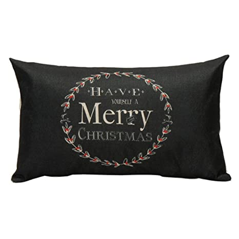 smileq decorativo fundas de almohada de Navidad rectangular ...