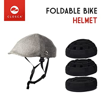 Closca Duckbill Gray - Casco Plegable para bicicleta urbana, Talla L, color gris