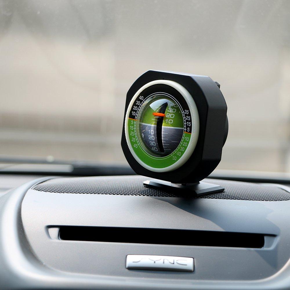 Itimo automatique Niveau de pente Mètre de voiture véhicule Declinometer Gradient haute précision LED intégré Lumière inclinomètre Angle de voiture Ornement