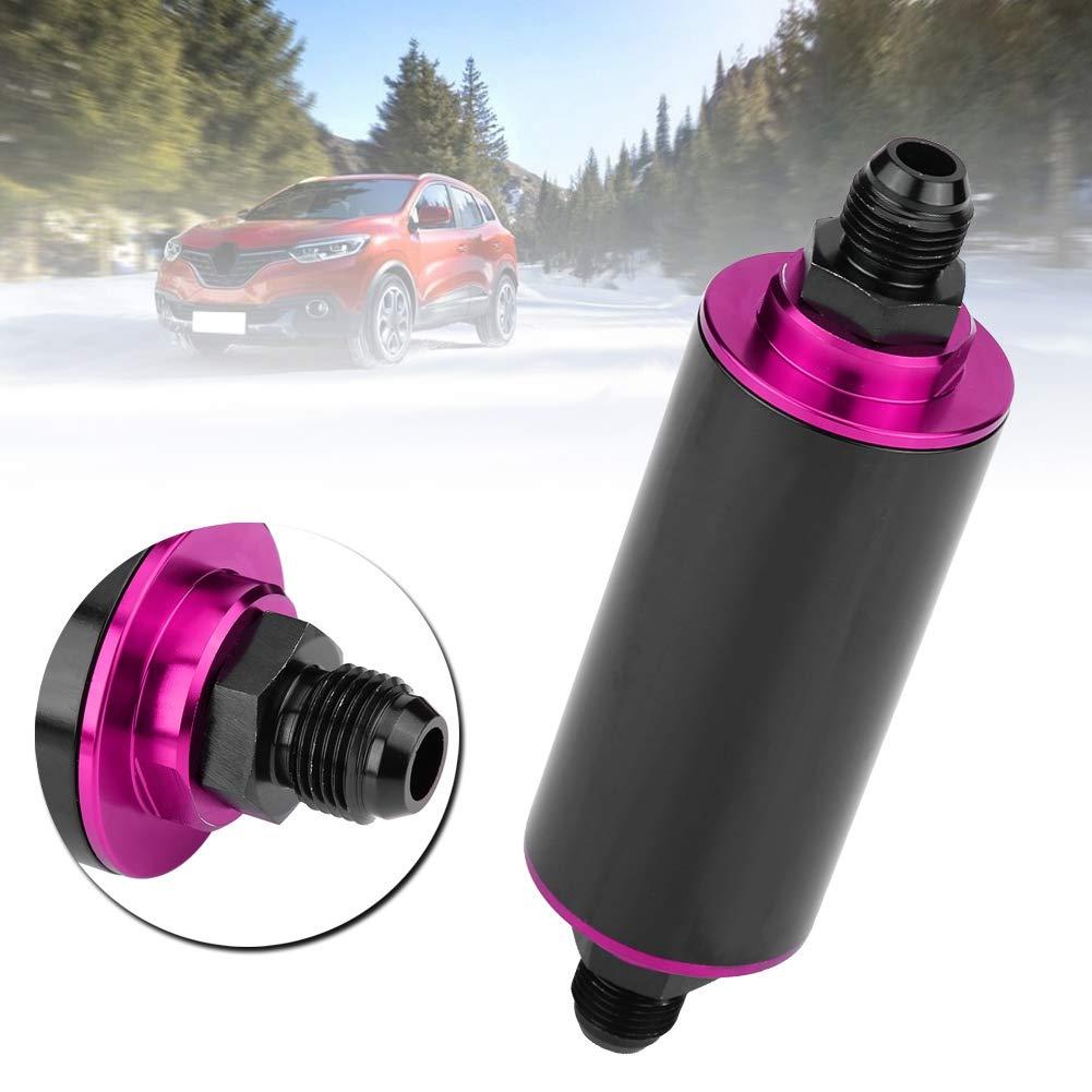 Filtre /à carburant universel 100 microns AN6 aluminium Inline Filtre /à essence avec d/ébit /élev/é pour voiture