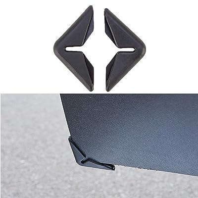 ATMOMO 2Pcs Black Car Door Protection Bumper Anti-Collision Protector Car Crash Bar Anti-rub Decorative Strip: Automotive