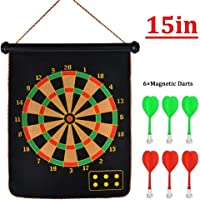 "Slyk Magnetic Dart Board Set 15"" With 6 Magnet Dart Needles"