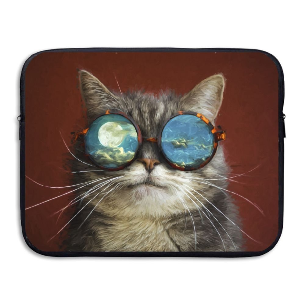 Fonsisi Laptop Storage Bag Artistic Cat Cool With Glasses Portable Waterproof Laptop Case Briefcase Sleeve Bags Cover