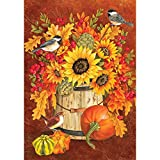Chickadee Sunflowers – STANDARD Size, 28 Inch X 40 Inch, Decorative Double Sided Flag MADE IN USA by Custom Décor Inc. Review