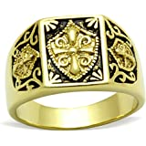 ISADY - Alexandre Gold - Men's Ring - Email Black