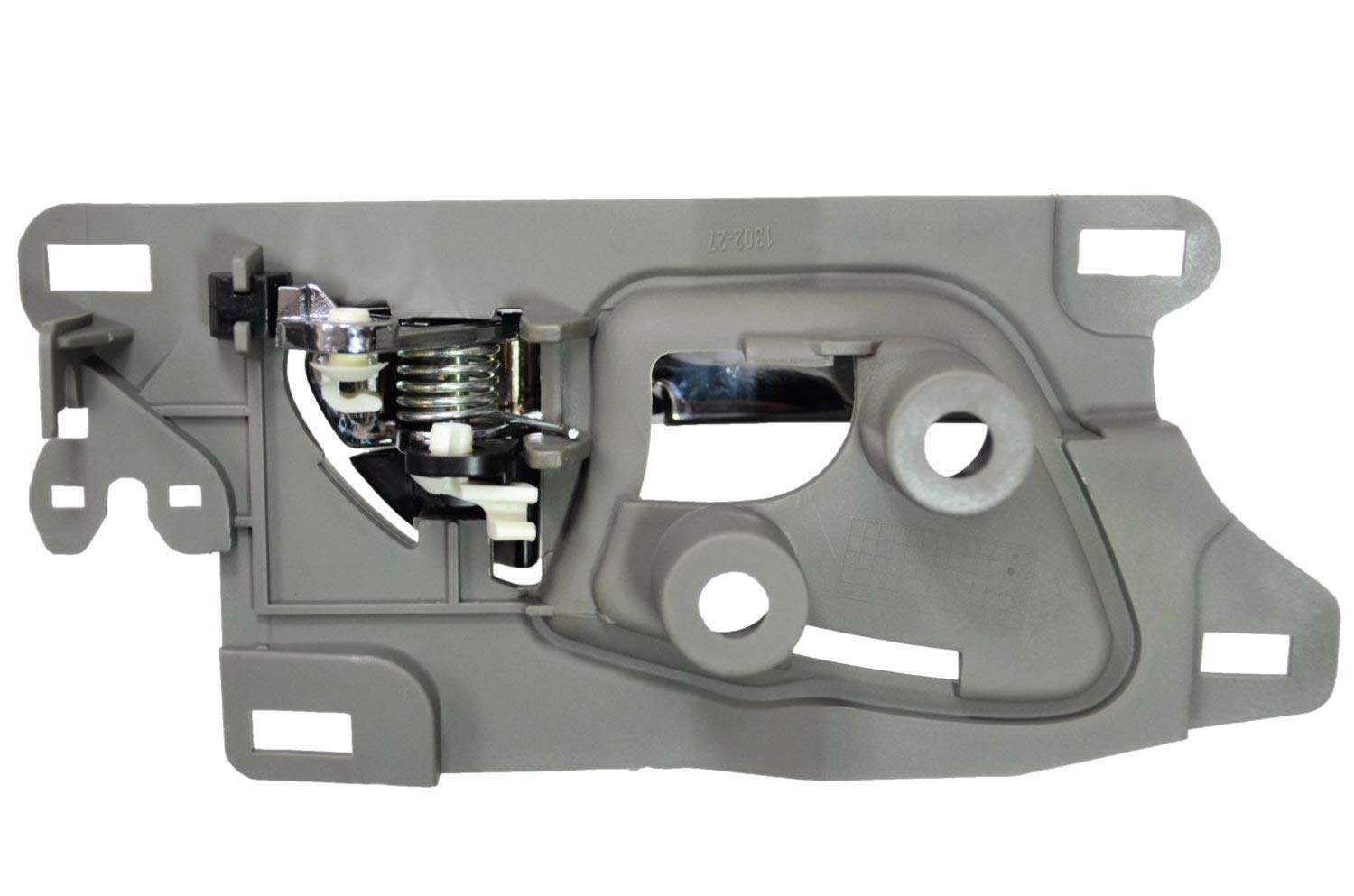 Interior Inner Inside Door Handle PT Auto Warehouse AC-2601MG-FP Front Left//Right Pair Chrome Lever with Gray Housing