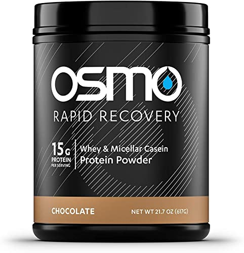 OSMO Nutrition – Rapid Recovery – Low Sugar – Post Exercise Recovery Powdered Drink Mix – Speed Recovery – Optimize Training Adaptations – Rapidly Restore Glycogen – Chocolate – 15 Serving Tub