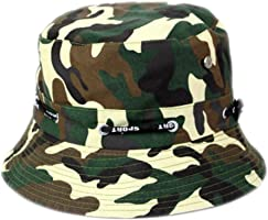 Y-HOT Unisex Camouflage Sun Bucket Hat for Fishing/Hiking/Camping Outdoor Foldable