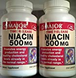Cheap [2 Pack] Niacin Time Release 500mg 250 Ct Captabs (Pack of 2 = 500 Tablets)