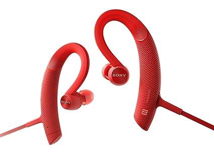 1daaaefe430 Amazon.com: Sony MDR-XB80BS Red Premium Waterproof Bluetooth ...