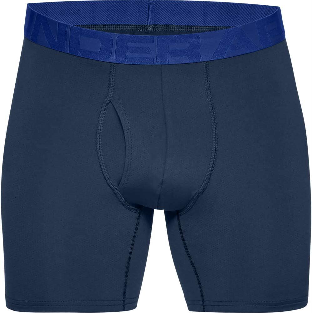 Mens Boxer Briefs Offering Complete Comfort Under Armour 2 Pack Tech Sports Underwear Fast-Drying Mens Underwear 15 cm Royal//Academy 400 X-Large