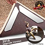 Rug Gripper small rug corner grippers keep rugs from slipping is Ideal carpet non-slip pad tape for rug corner - non slip rug strips and non skid mats Best for indoor outdoor and bathroom rugs (16pcs)