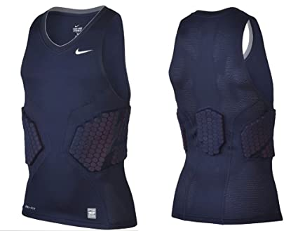 f5d291cb Nike Pro Combat Hyperstrong Compression Padded Men's Basketball Shirt,  Navy/Obsidian, Extra Large